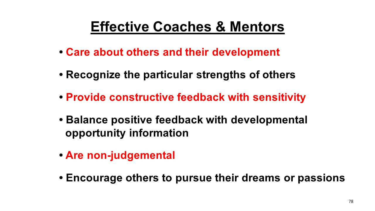 Effective Coaches & Mentors