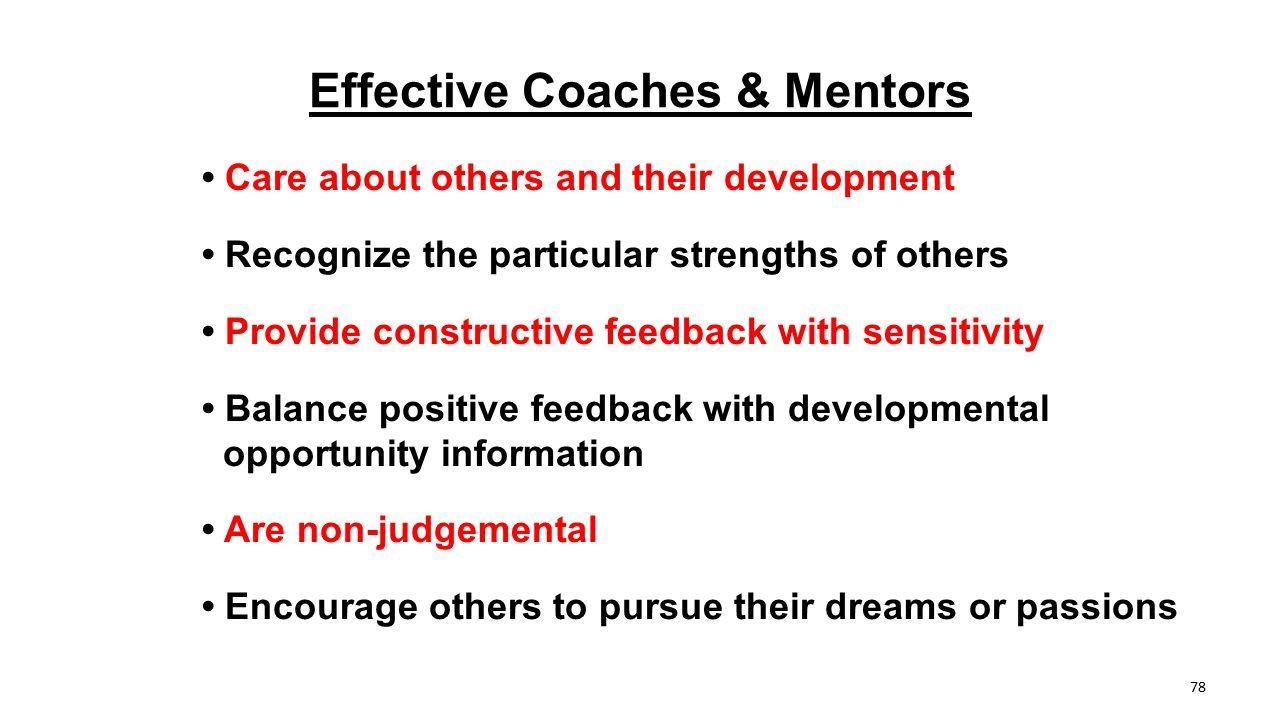 Effective Coaches & Mentors