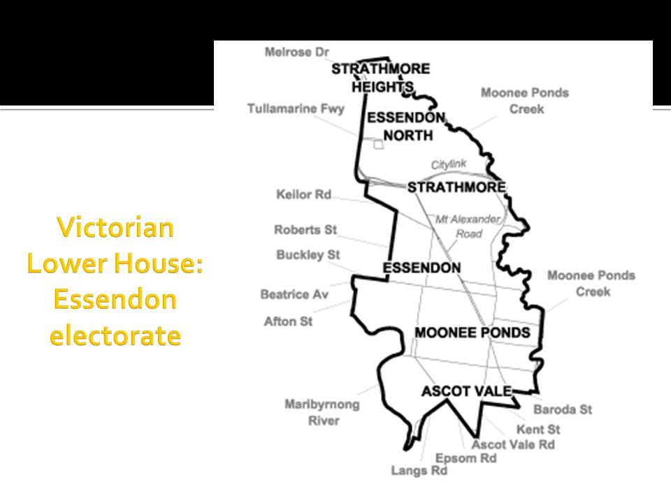 Victorian Lower House: Essendon electorate