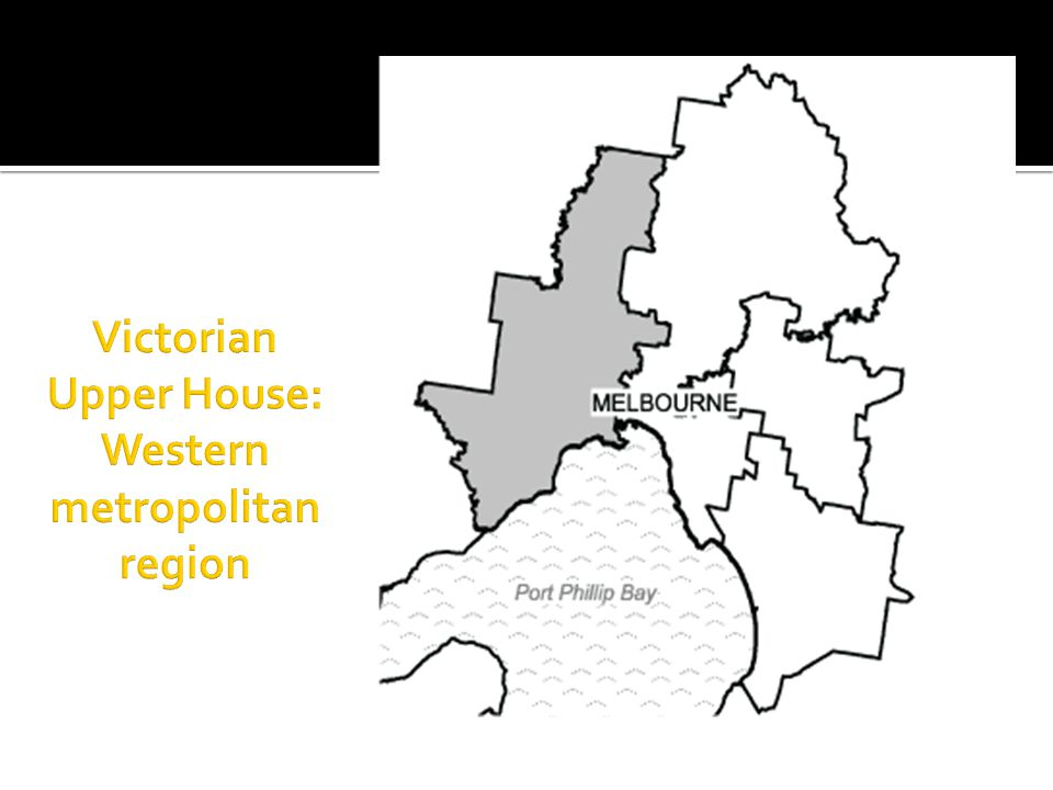 Victorian Upper House: Western metropolitan region