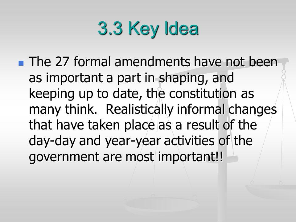 3.3 Key Idea