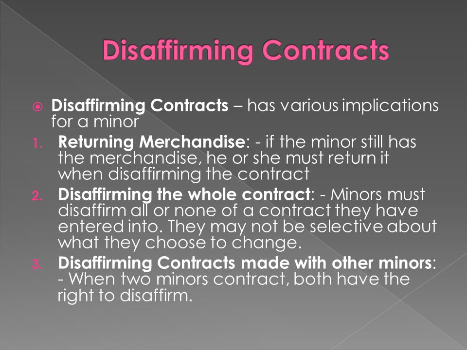 Disaffirming Contracts