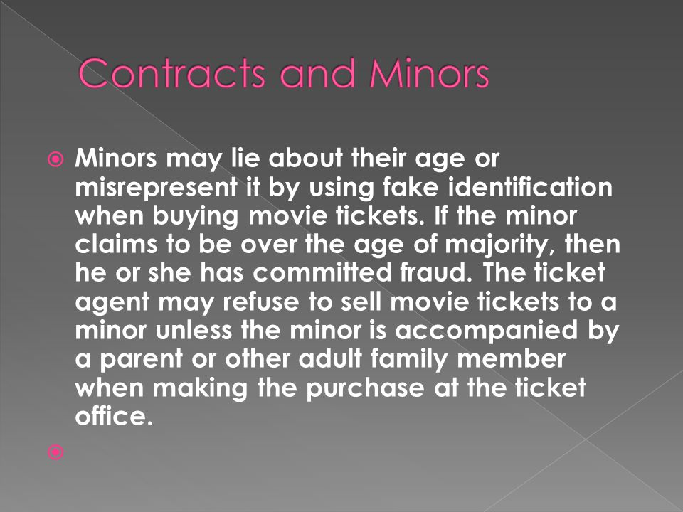Contracts and Minors