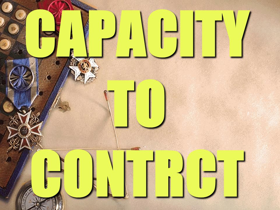 CAPACITY TO CONTRCT