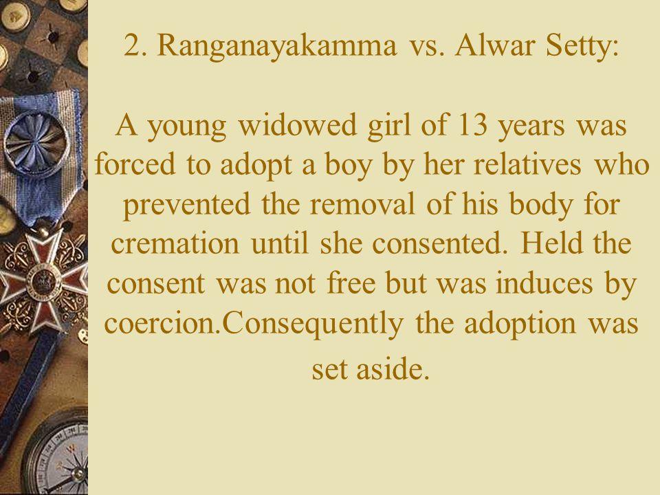2. Ranganayakamma vs.