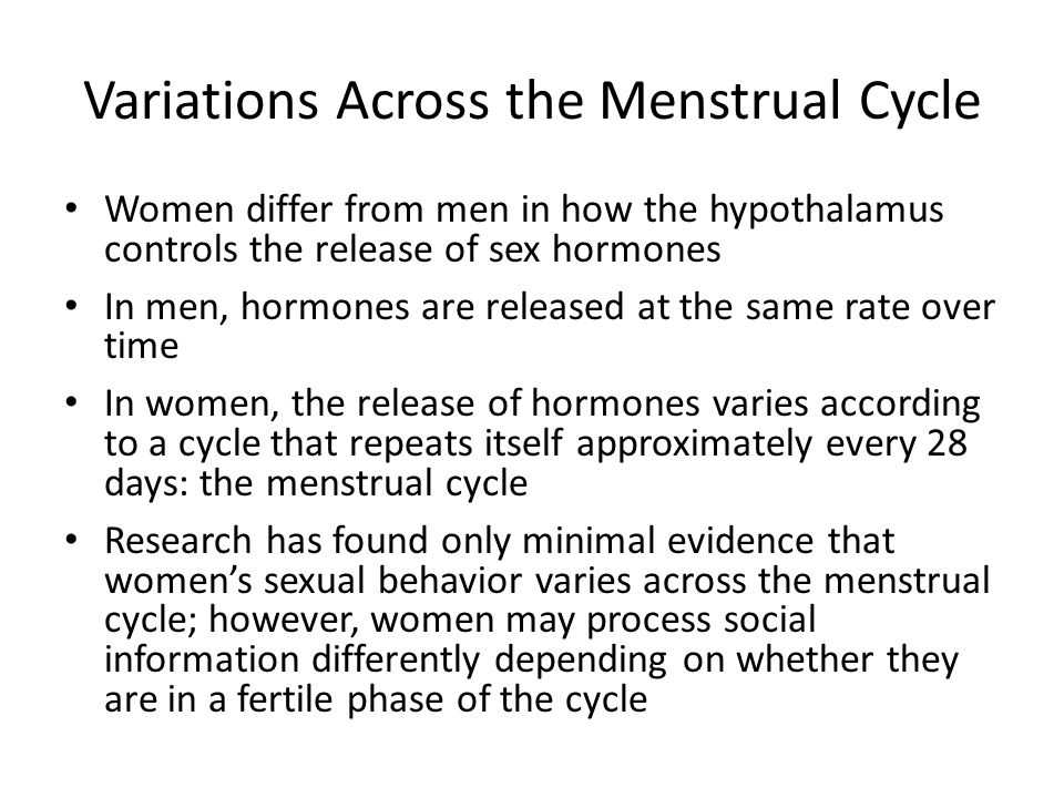 Variations Across the Menstrual Cycle