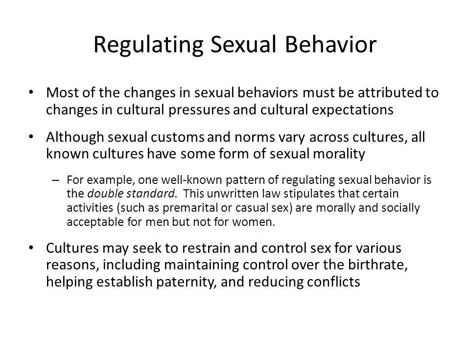 Regulating Sexual Behavior
