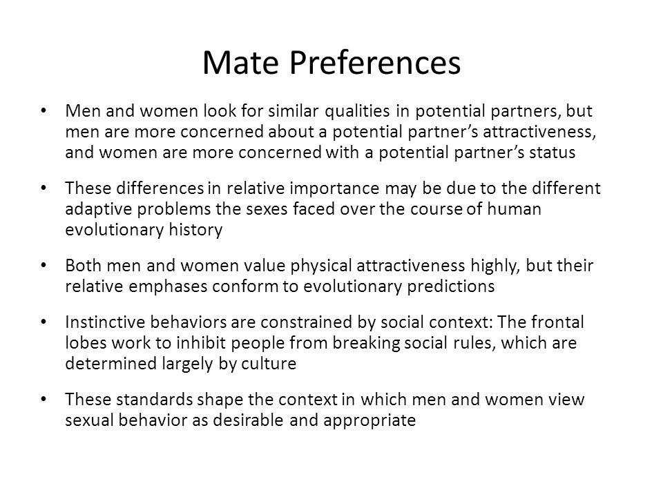 Mate Preferences