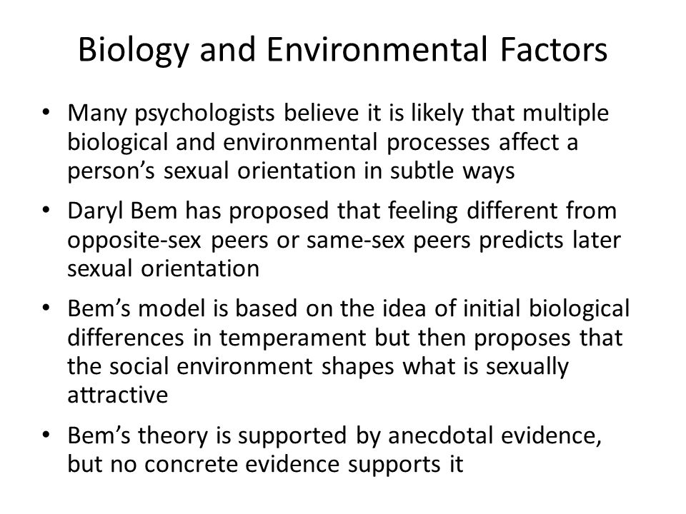 Biology and Environmental Factors