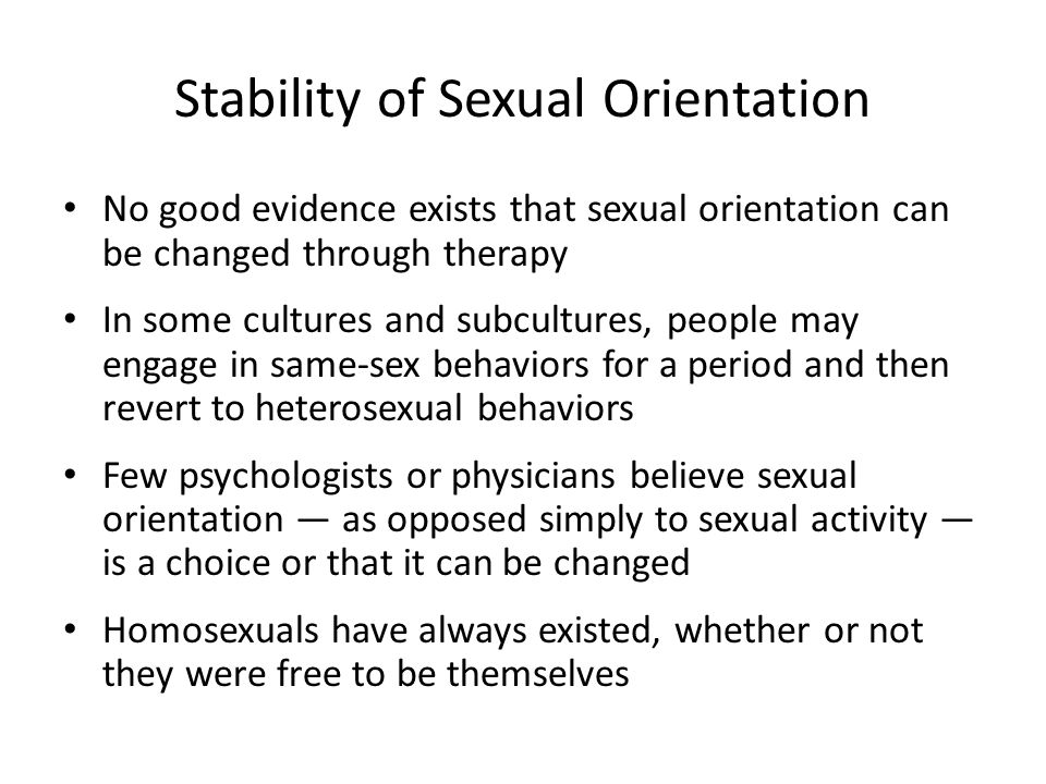 Stability of Sexual Orientation