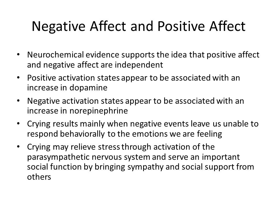 Negative Affect and Positive Affect