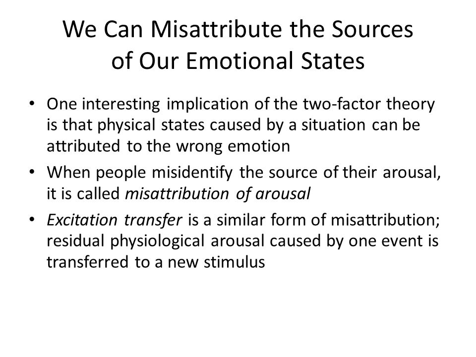 We Can Misattribute the Sources of Our Emotional States