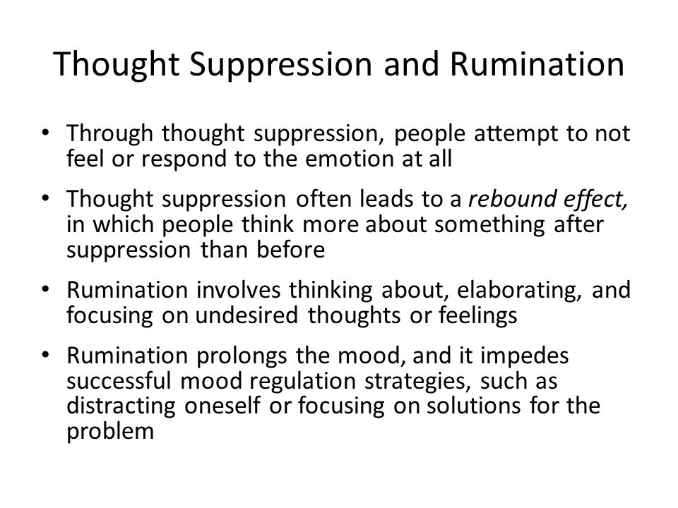Thought Suppression and Rumination