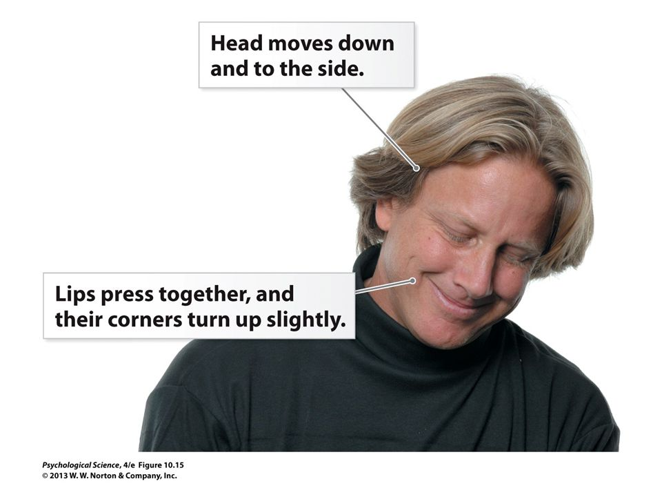 FIGURE 10.15 Embarrassment In this photo, the psychologist Dacher Keltner is demonstrating the classic facial signals of embarrassment.