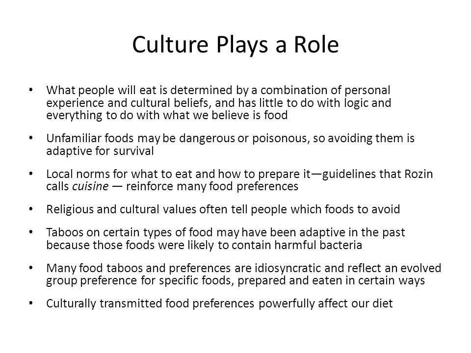 Culture Plays a Role