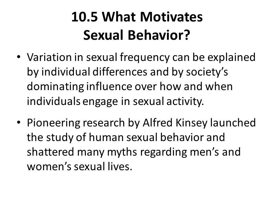 10.5 What Motivates Sexual Behavior