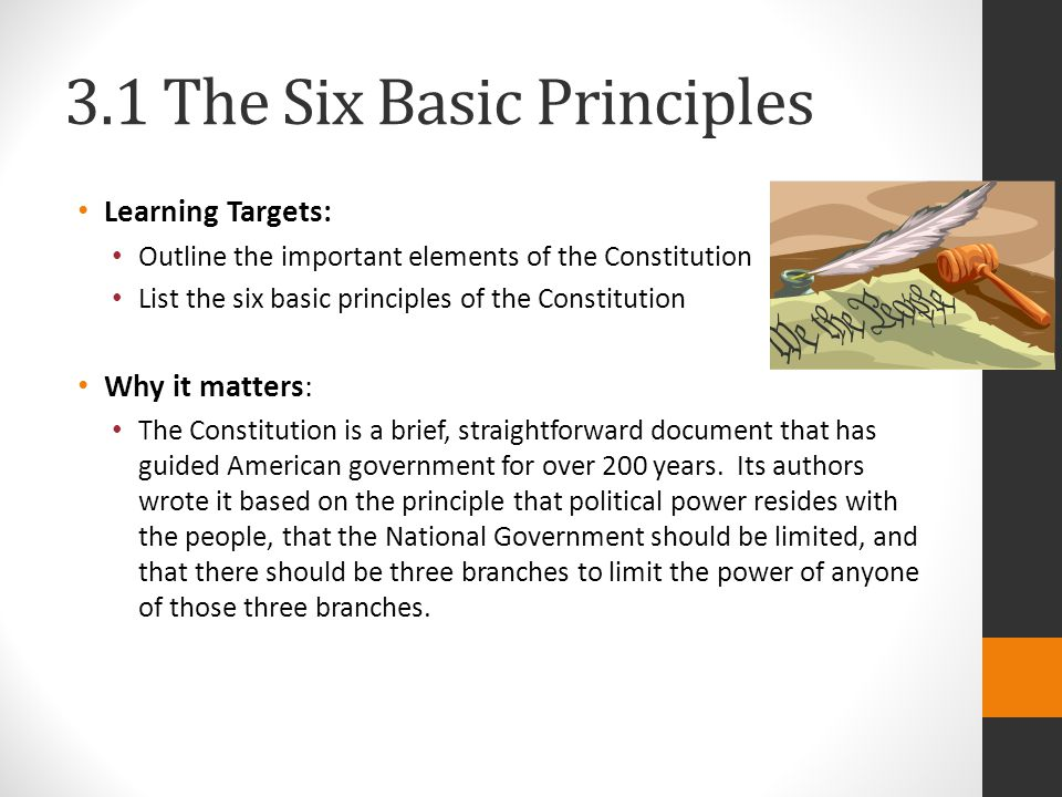 3.1 The Six Basic Principles