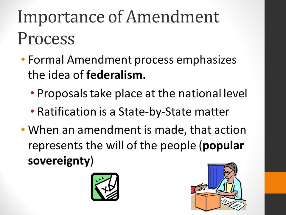Importance of Amendment Process