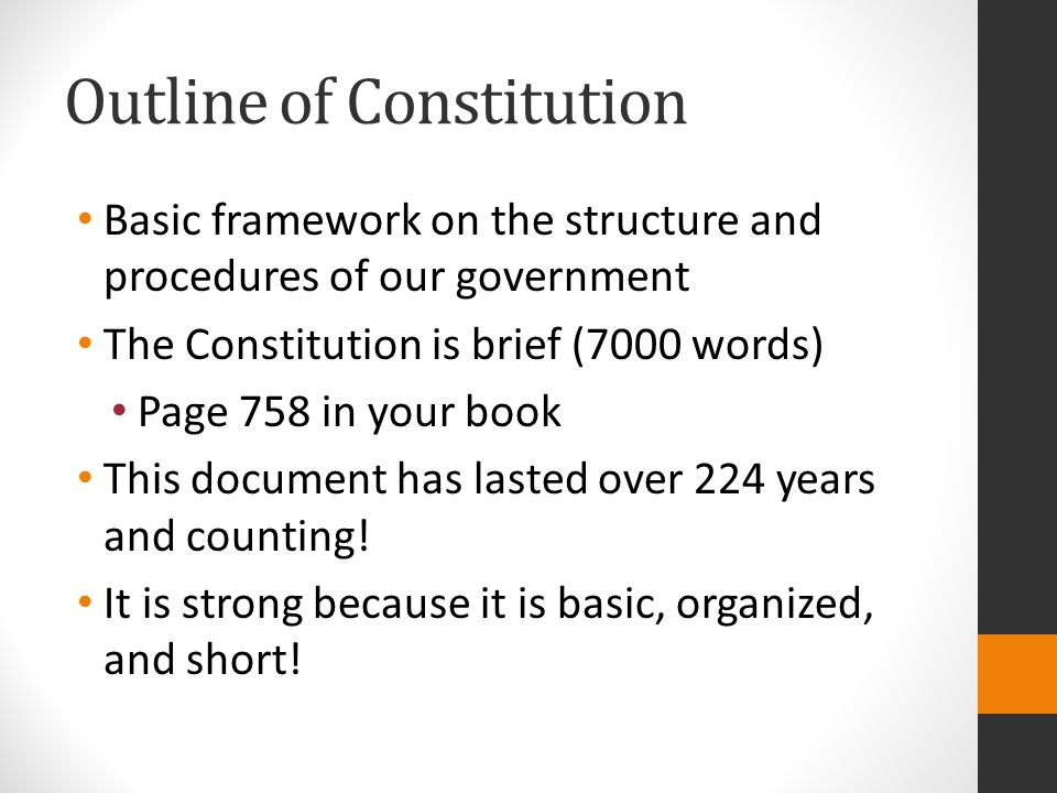 Outline of Constitution