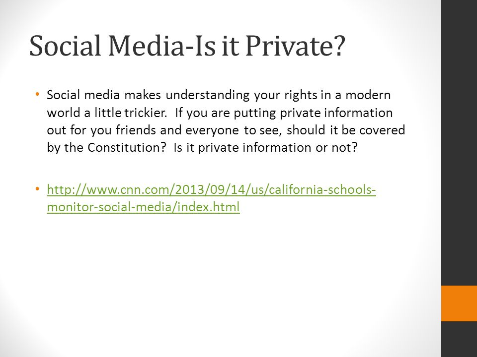 Social Media-Is it Private