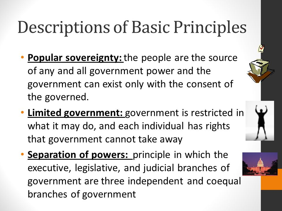 Descriptions of Basic Principles