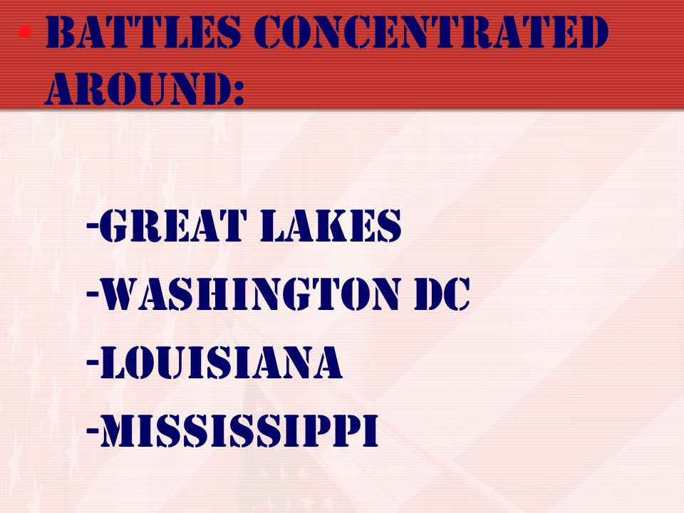 Battles concentrated around:
