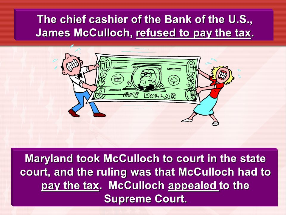 The chief cashier of the Bank of the U. S
