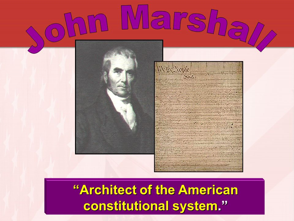 Architect of the American constitutional system.