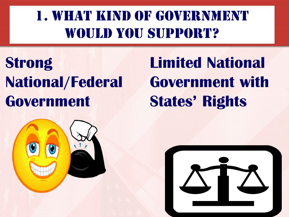 1. What kind of Government would you support