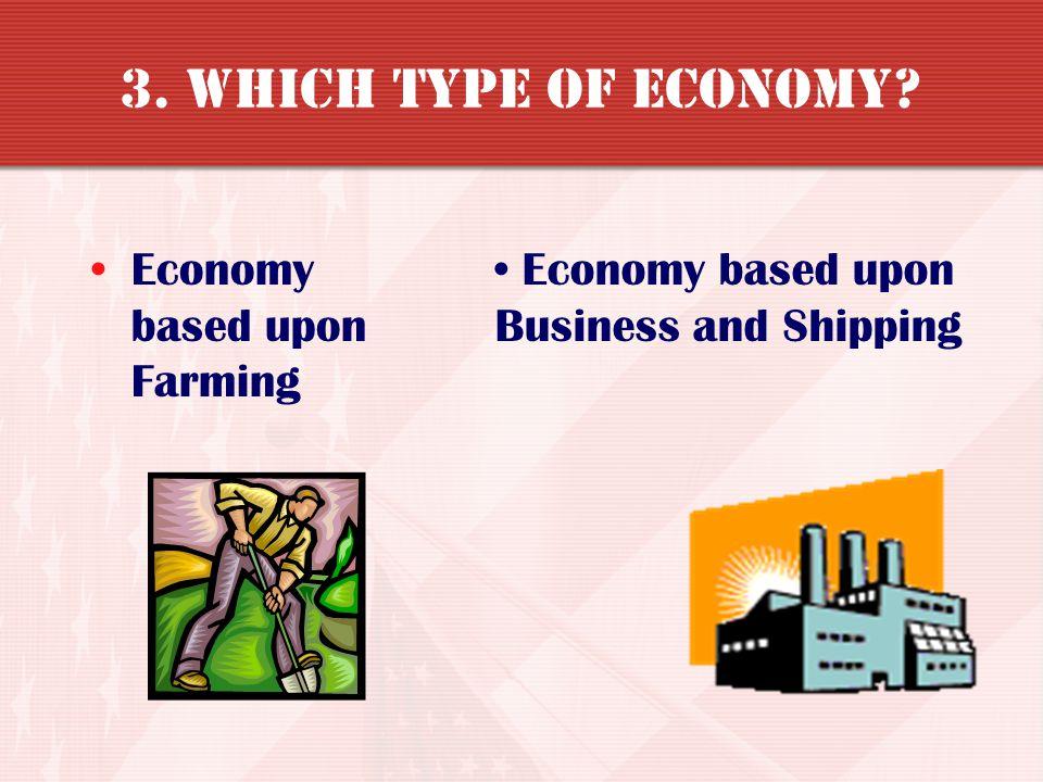 3. Which type of Economy Economy based upon Farming