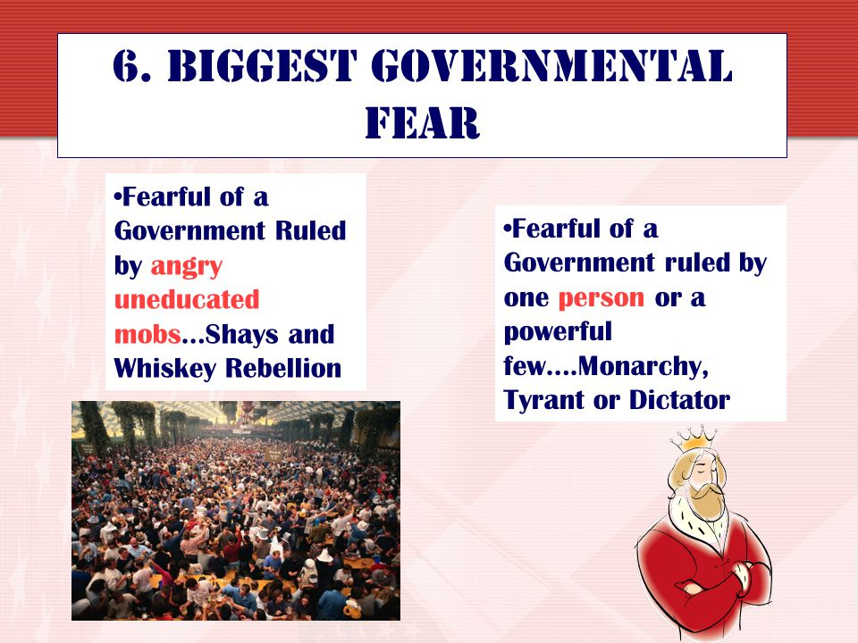 6. Biggest Governmental Fear