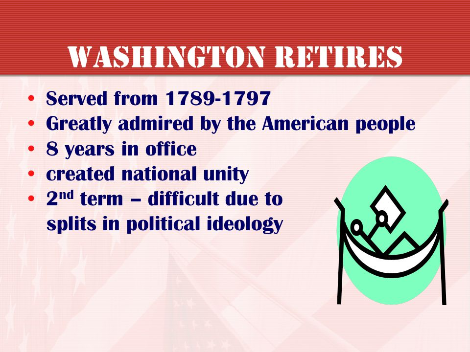 Washington Retires Served from 1789-1797