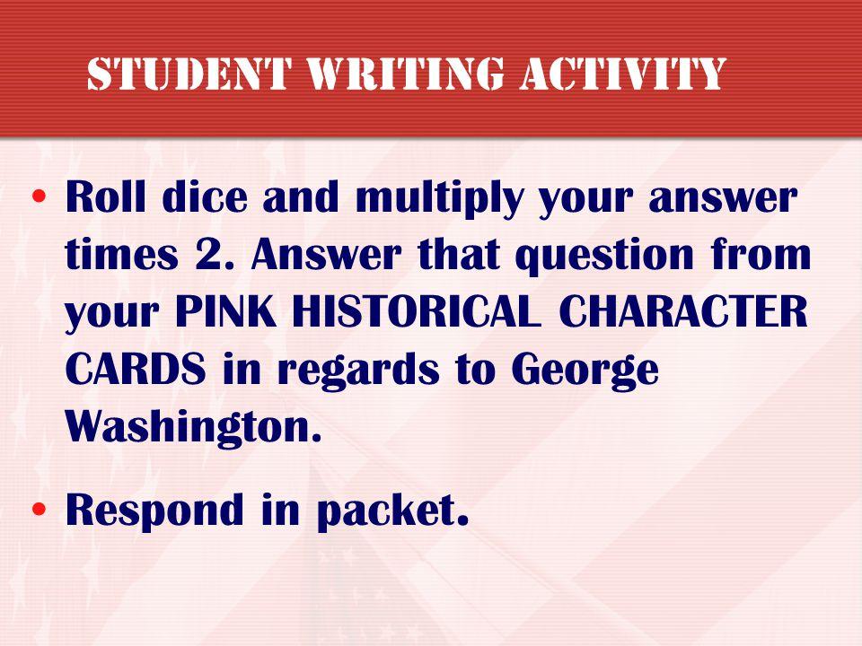 Student writing activity
