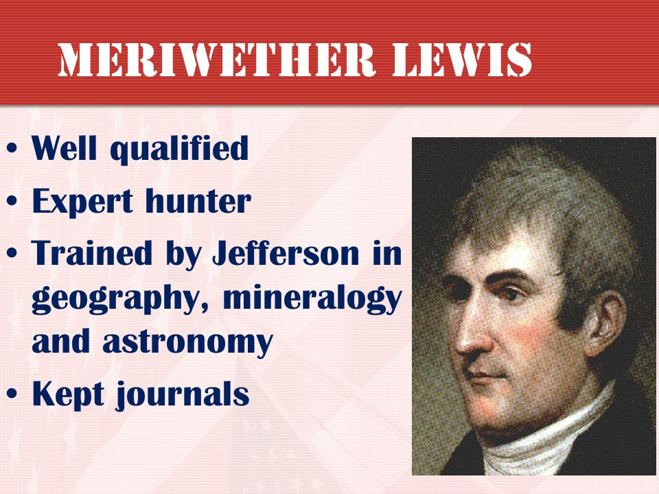 Meriwether Lewis Well qualified Expert hunter