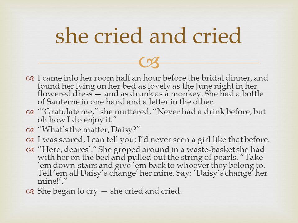 she cried and cried