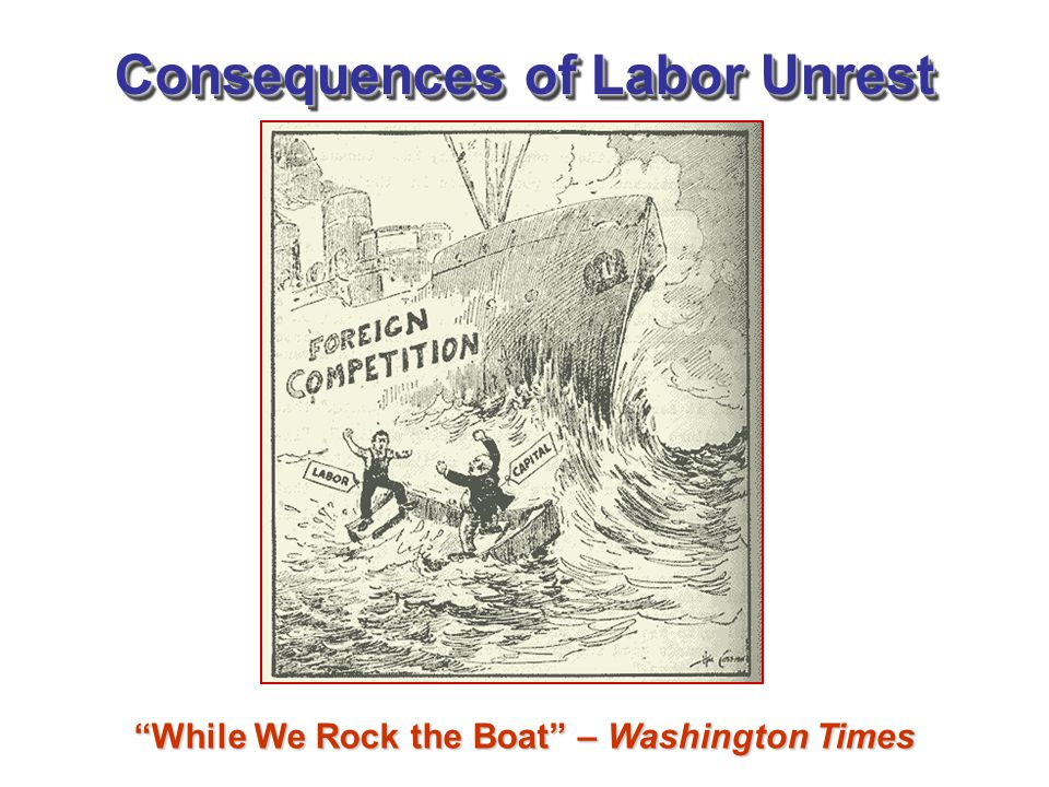 Consequences of Labor Unrest