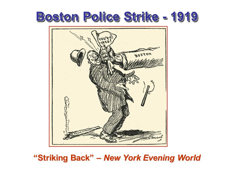 Striking Back – New York Evening World