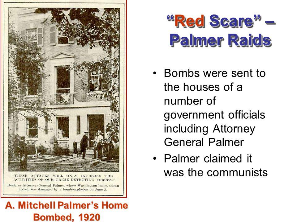 Red Scare – Palmer Raids