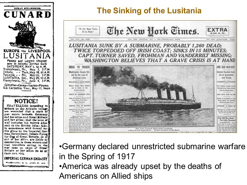 The Sinking of the Lusitania