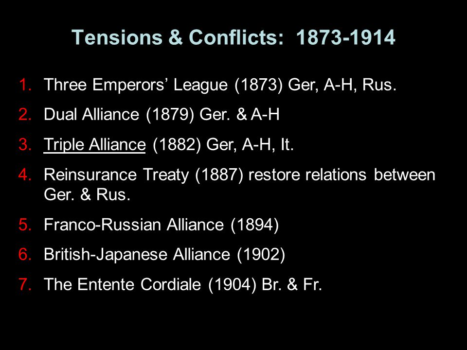 Tensions & Conflicts: 1873-1914