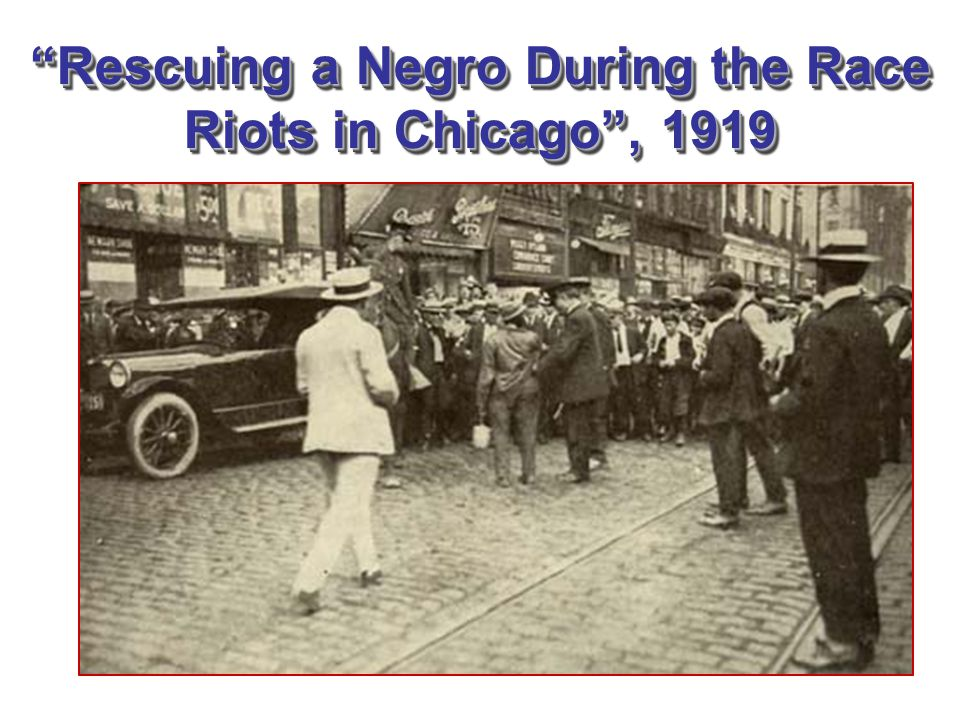 Rescuing a Negro During the Race Riots in Chicago , 1919