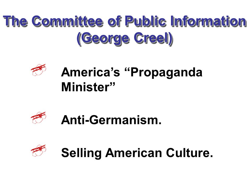 The Committee of Public Information (George Creel)