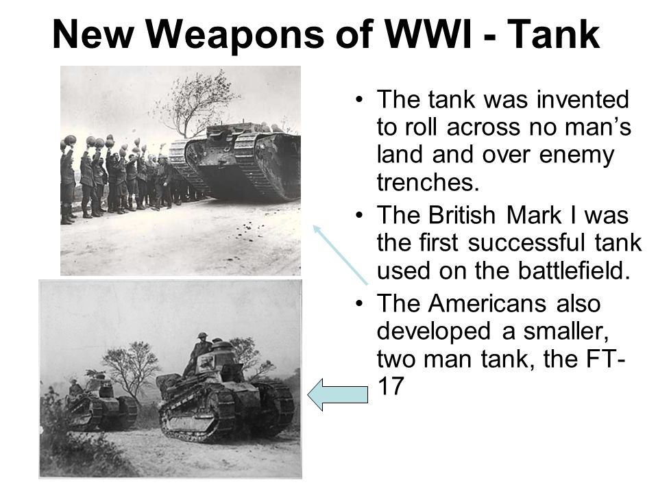 New Weapons of WWI - Tank