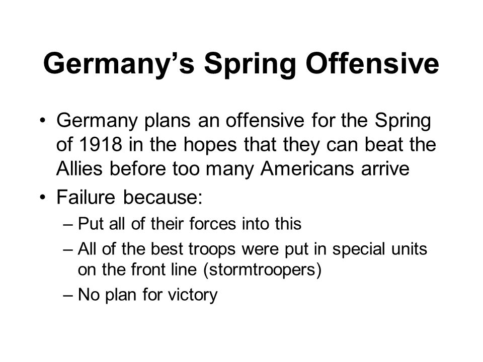 Germany's Spring Offensive