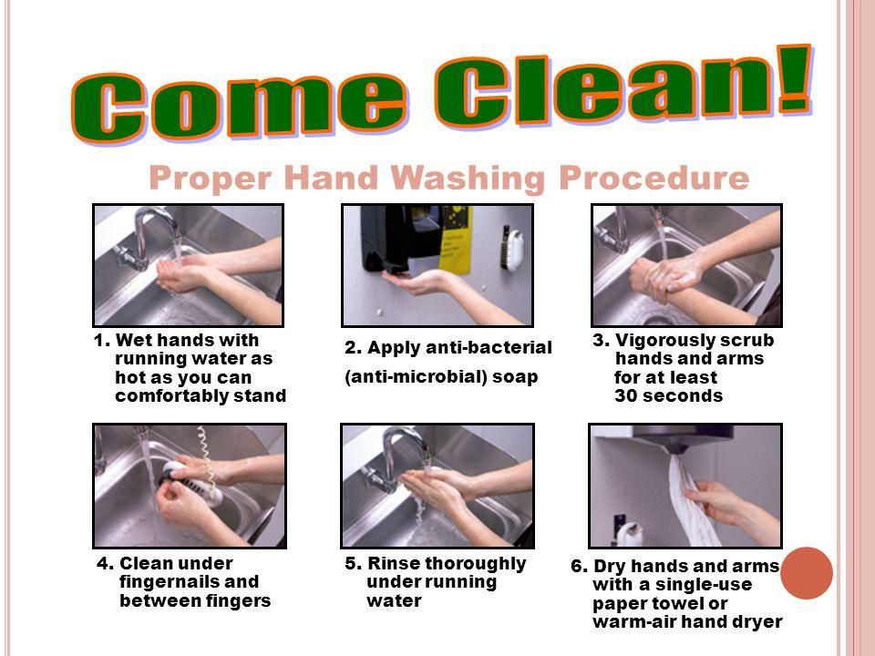 Come Clean! Proper Hand Washing Procedure