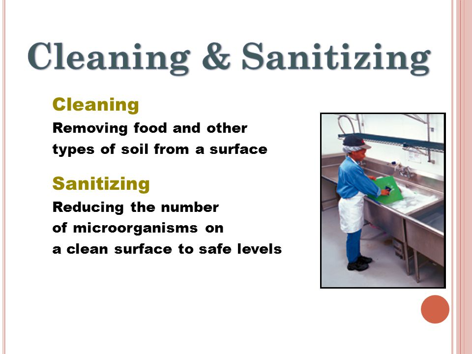 11• Cleaning and Sanitizing