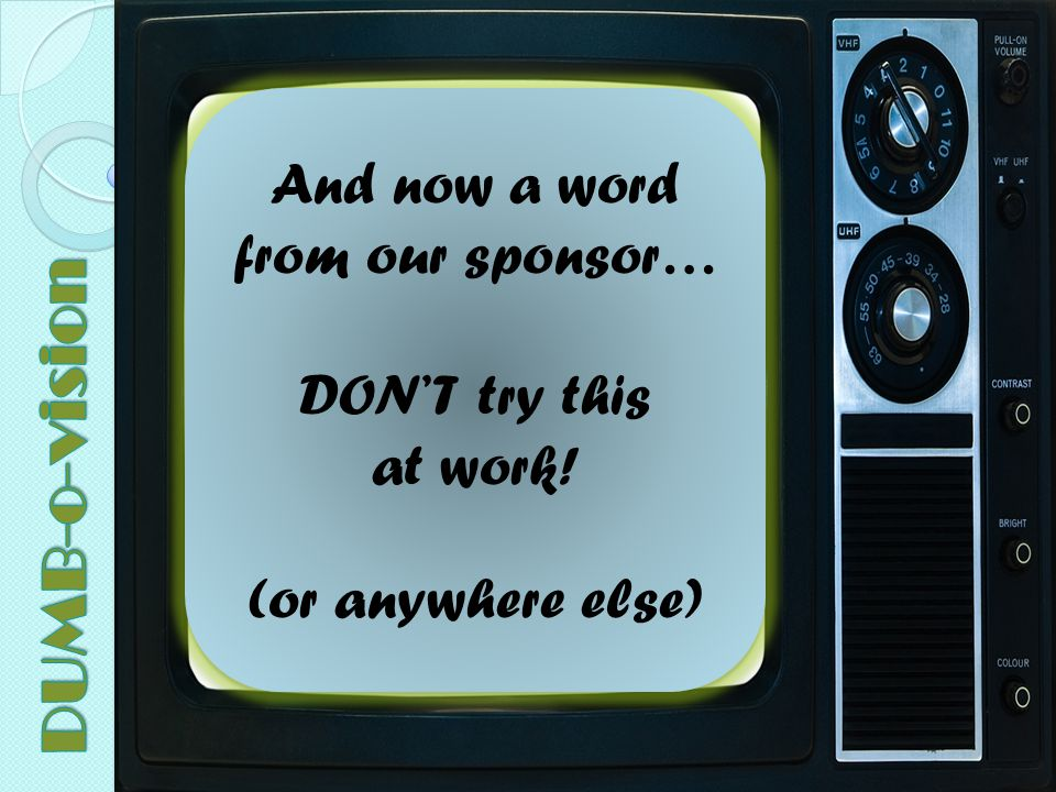 And now a word from our sponsor…