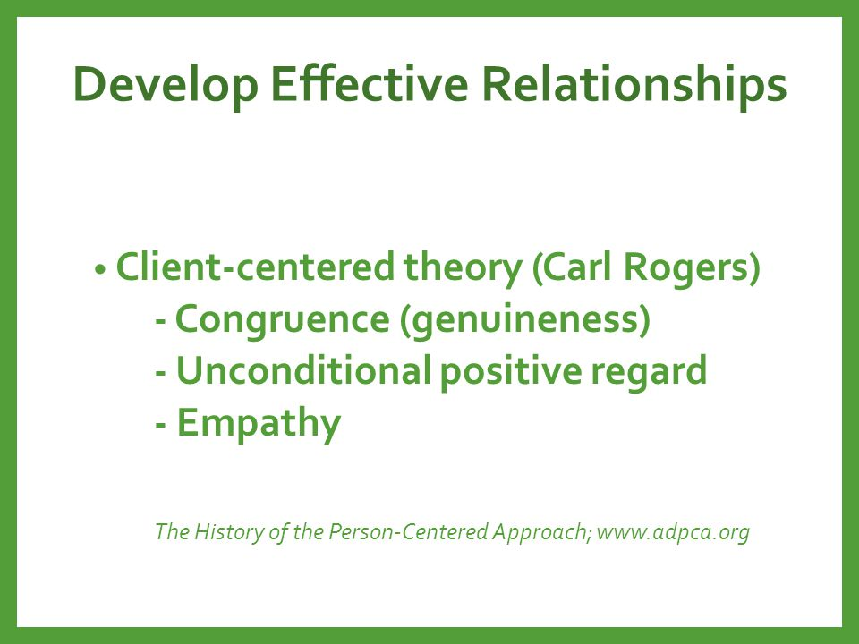 Develop Effective Relationships