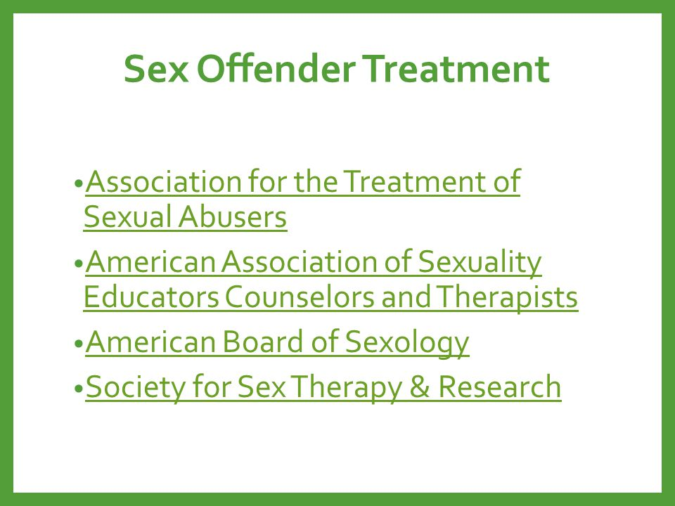 Sex Offender Treatment