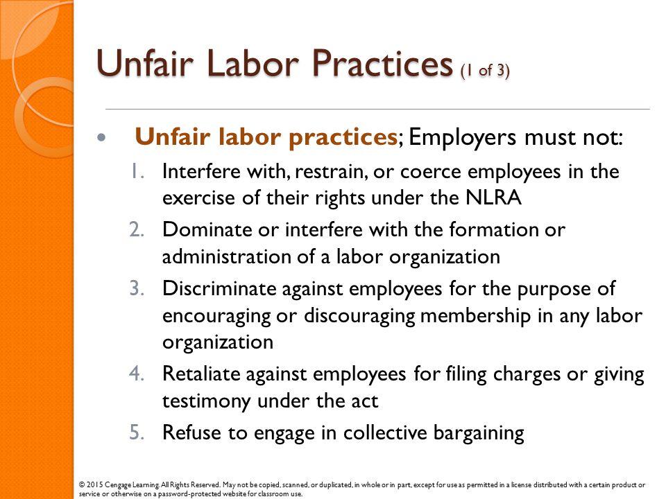 Unfair Labor Practices (1 of 3)